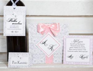 rustykalny zestaw ślubny - zaproszenie, winietka, inne